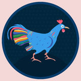 Rooster in circle. Royalty Free Stock Photography