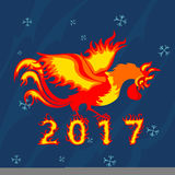 Rooster cock, symbol of 2017 on the Chinese calendar. Royalty Free Stock Photo