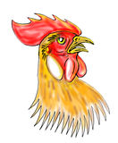 Rooster or cockerel head Royalty Free Stock Image