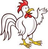Rooster Cockerel Waving Hello Cartoon Stock Photography