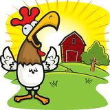 Rooster Crowing Royalty Free Stock Photography