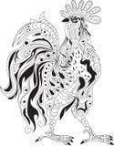 Rooster design, decorative ornament Stock Photo