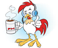 Rooster Disk Jockey Stock Photos