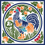 Rooster Earth Element Symbol Royalty Free Stock Photography