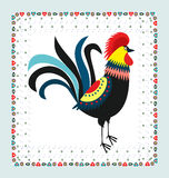 Rooster embroidery Stock Photo
