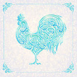 Rooster of floral pattern. / decorative symbol of chinese new year / chicken / cock Royalty Free Stock Image