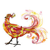 Rooster graphic illustration Royalty Free Stock Photography