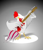 Rooster with a guitar Royalty Free Stock Image