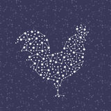 Rooster - Happy new year 2017 symbol on sky background. Royalty Free Stock Image