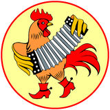 Rooster with harmon Royalty Free Stock Photos