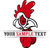 Rooster head. In  style Stock Photography