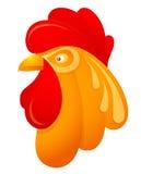 Rooster head cartoon Stock Photos