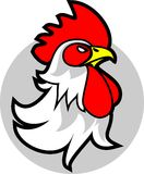 Rooster head emblem Stock Photo