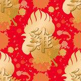 Rooster head pattern Stock Photography