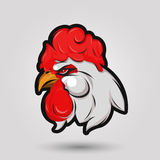 Rooster head sign Stock Image