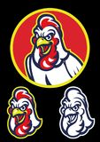 Rooster head in sport mascot style. Vector of Rooster head in sport mascot style Royalty Free Stock Images