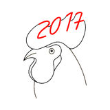 Rooster head 2017 vector Royalty Free Stock Photos
