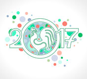 Rooster 2017. Holiday Confetti. Rooster 2017 Holiday Confetti. Happy New Year Royalty Free Stock Photos