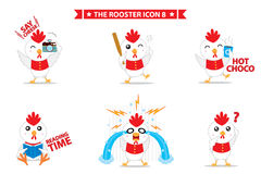 Rooster icon character. This is rooster icon character design.  file Royalty Free Stock Images