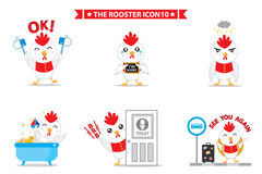 Rooster icon character. This is rooster icon character design.  file Stock Image