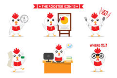 Rooster icon character. This is rooster icon character design.  file Royalty Free Stock Image
