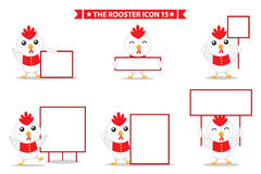 Rooster icon character. This is rooster icon character design.  file Stock Photography