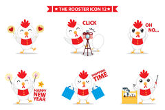 Rooster icon character. This is rooster icon character design.  file Stock Photo