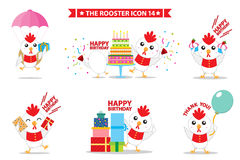 Rooster icon character. This is rooster icon character design.  file Stock Photos
