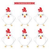 Rooster icon character. This is rooster icon character design. Vector file Stock Photography