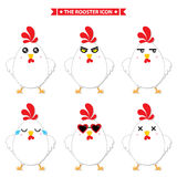 Rooster icon character. This is rooster icon character design. Vector file Stock Photos