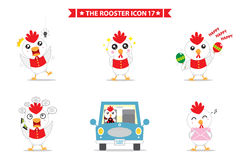Rooster icon character. This is rooster icon character design. Vector file Stock Images