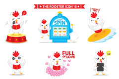 Rooster icon character. This is rooster icon character design. Vector file Royalty Free Stock Photos