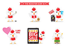 Rooster icon character. This is rooster icon character design. Vector file Stock Image