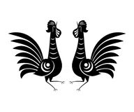Rooster icon sign. Illustration of Rooster. Animal symbol of Chinese New year 2017. Hand drawn folk cock Royalty Free Stock Photo
