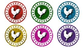 Rooster icon,sing,illustration. Rooster icon,sing,best illustration Royalty Free Stock Images