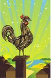 Rooster illustration Stock Image