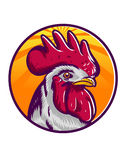 Rooster. Illustration best for farm logo or something relate chicken Stock Images