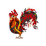 Rooster on the isolated background. The cock are symbol of the n. Ew year 2017. - the Stock vector Royalty Free Stock Image