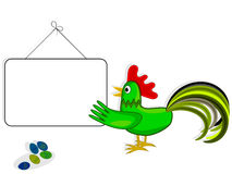 Rooster and label Royalty Free Stock Photo