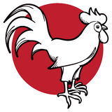 Rooster Logo Icon royalty free illustration
