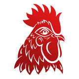 Rooster logo mascot. Isolated rooster head vector illustration. Stock Photos