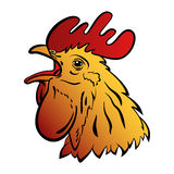 Rooster logo mascot. Isolated rooster head vector illustration. Stock Photo