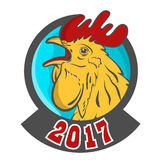 Rooster logo mascot. Isolated rooster head vector illustration. Stock Photography