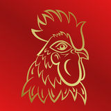 Rooster logo mascot. rooster head vector illustration foil. Stock Photos