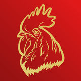 Rooster logo mascot. rooster head vector illustration foil. Stock Photo