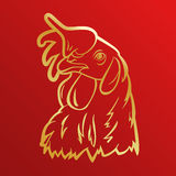 Rooster logo mascot. rooster head vector illustration foil. Royalty Free Stock Photo