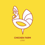 Rooster logo template. Line style Stock Photos