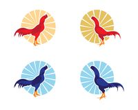 Rooster Logo Template. Vector icon illustration design Stock Photo