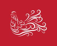 Rooster Logo Template. Vector illustration Royalty Free Stock Image