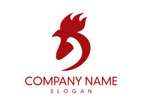 Rooster logo. On white background Stock Photography